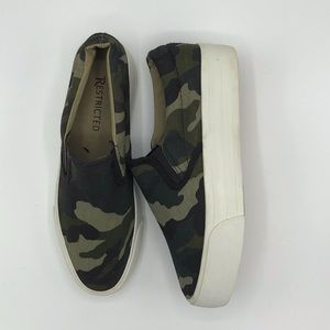 Restricted Camo Slip on Sneaker